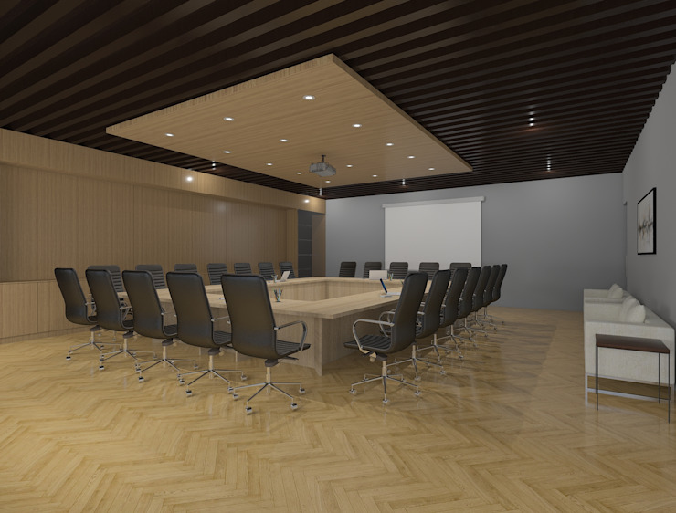 Modern board room interiors توسط Rhythm And Emphasis Design Studio مدرن