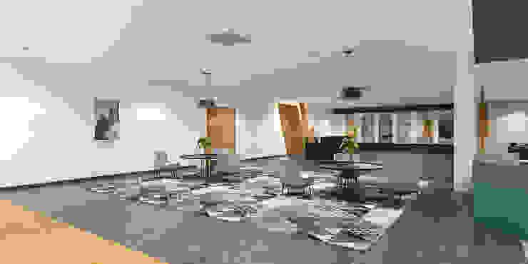Reception cum waiting room in an institution توسط Rhythm And Emphasis Design Studio مدرن