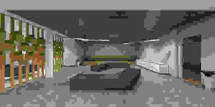 Waiting area design in office راهرو مدرن، راهرو و راه پله توسط Rhythm And Emphasis Design Studio مدرن