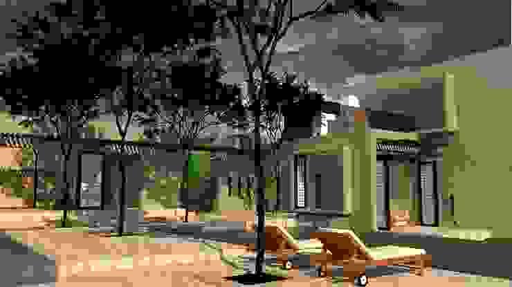 Terraza Piscina de diseño con estilo ... sas Minimalista