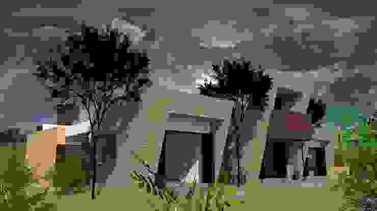 Zona Privada de diseño con estilo ... sas Moderno