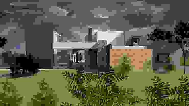 Fachada Casas modernas de diseño con estilo ... sas Moderno