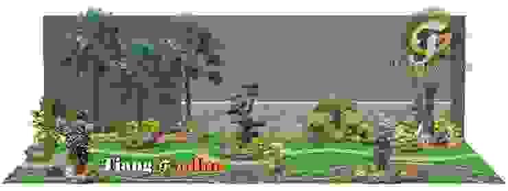 Arsitek Taman Surabaya || Taman Halaman Belakang Oleh Tukang Taman Surabaya - Tianggadha-art Modern Batu