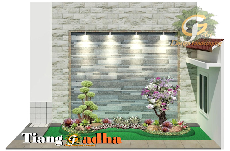 Arsitek Taman Surabaya || Taman Samping Lorong Oleh Tukang Taman Surabaya - Tianggadha-art Modern Batu