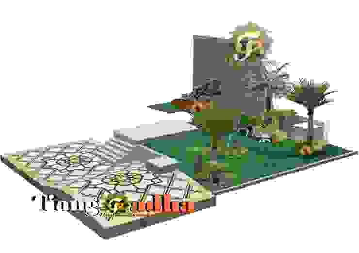 Arsitek Taman Surabaya || Taman Teras Depan Oleh Tukang Taman Surabaya - Tianggadha-art Modern Batu