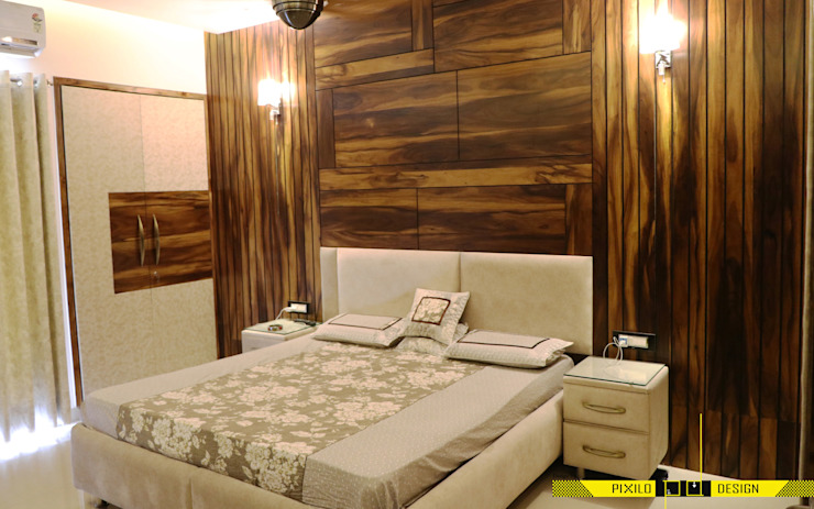 Chugh's Residence Modern style bedroom by Pixilo Design Modern