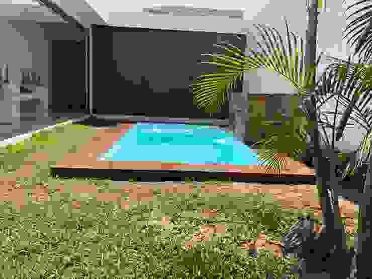 庭院泳池 by glüp Piscinas Veracruz,