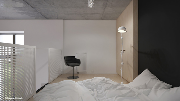 Dormitorios de estilo minimalista de KOSAKOWSKI STUDIO Minimalista