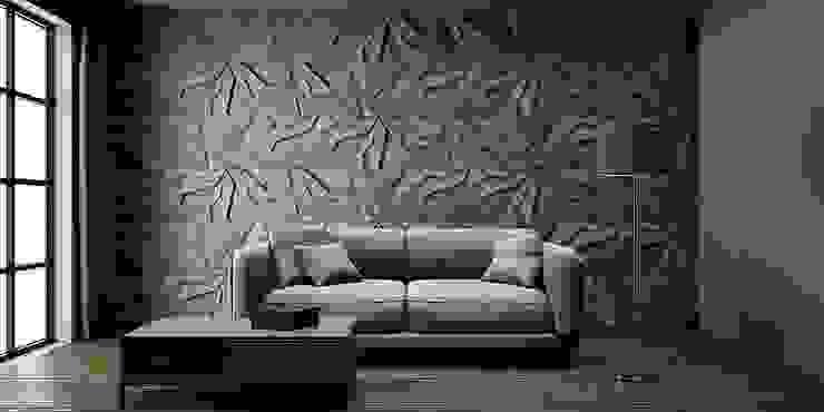 ZICARO - producent paneli 3D Pareti & Pavimenti in stile moderno Ceramica Grigio