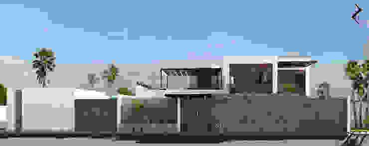 FACHADA FRONTAL Casas de estilo moderno de RJ Arquitectos Moderno
