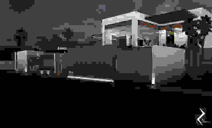 FACHADA LATERAL Casas de estilo moderno de RJ Arquitectos Moderno