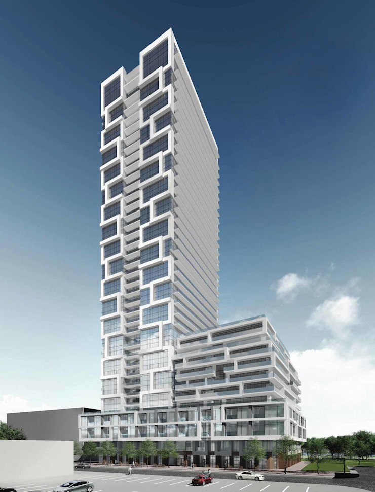 River and Fifth Condos by Cityscape Real Estate Ltd. Industrial Glass