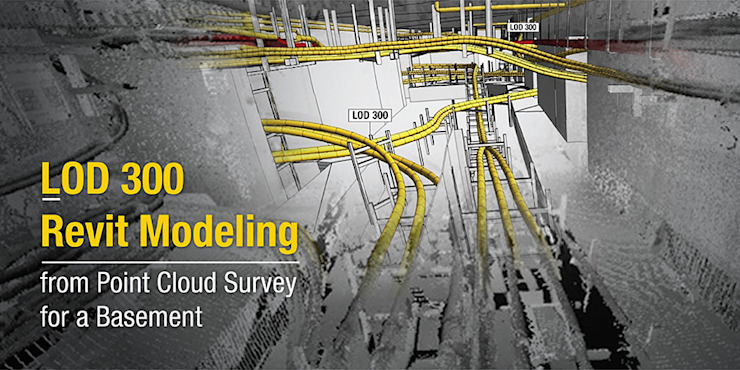 Point Cloud Conversion Services for Commercial Market at Basement by Hitech CADD Services