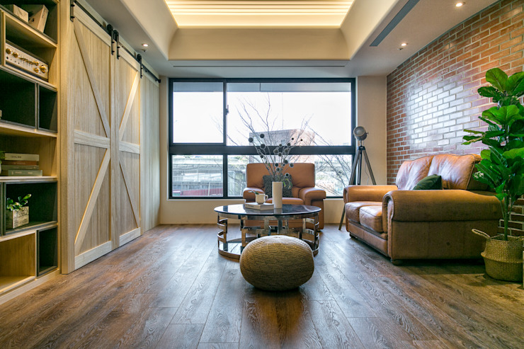 懷舊復古風-看見不一樣的風格與靈魂-全坤峰華 根據 富亞室內裝修設計工程有限公司 工業風 實木 Multicolored