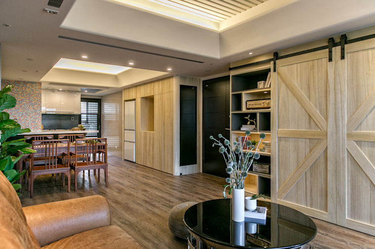 懷舊復古風-看見不一樣的風格與靈魂-全坤峰華 根據 富亞室內裝修設計工程有限公司 隨意取材風 木頭 Wood effect