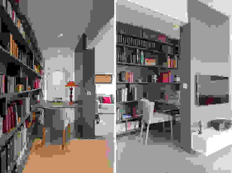Modern style study/office by Fables de murs Modern Concrete