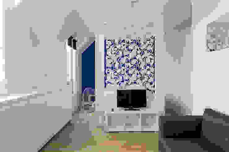 Minimalistische Wohnzimmer von Fables de murs Minimalistisch Metall
