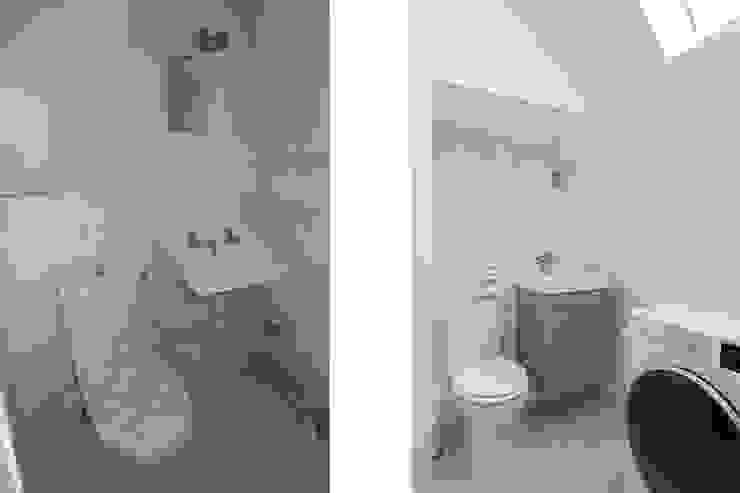 Minimalist style bathroom by Fables de murs Minimalist MDF