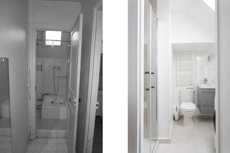 Baños de estilo minimalista de Fables de murs Minimalista Cerámico