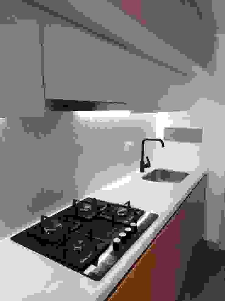 Proyecto Apartamento 95:  de estilo industrial por QBICUS SAS, Industrial