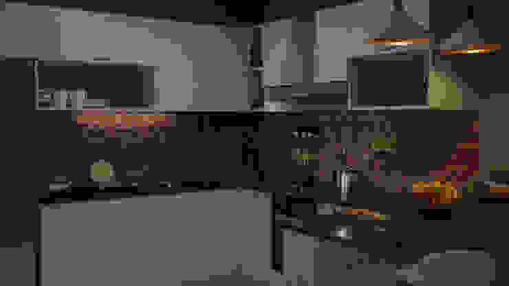 CrimsonViz Built-in kitchens Green
