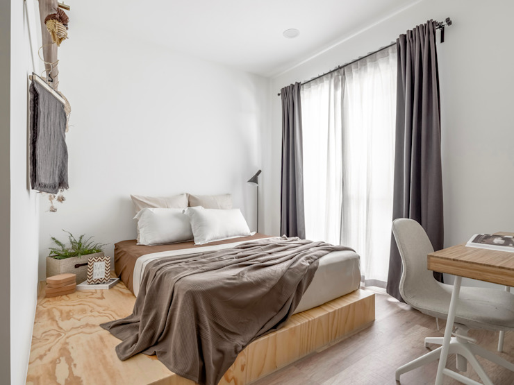 寓子設計 Scandinavian style bedroom
