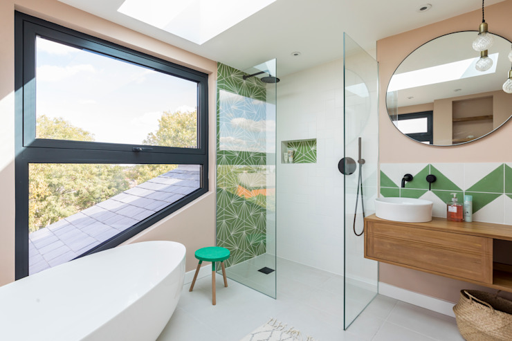 Loft Conversion Bathroom Urbanist Architecture Modern Bathroom Multicolored