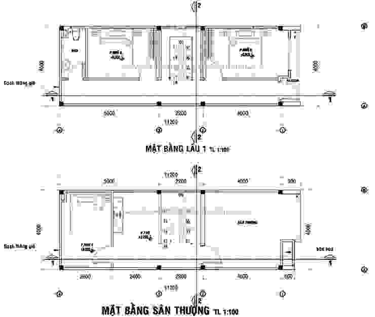 Nhà 1 trệt 1 lửng 1 lầu 1 sân thượng bởi Công ty xây dựng nhà đẹp mới