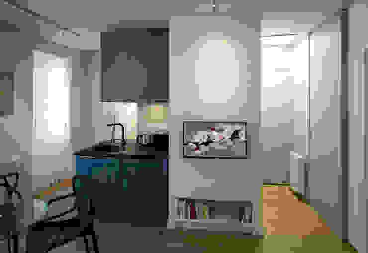 Fables de murs Ingresso, Corridoio & Scale in stile moderno MDF Blu