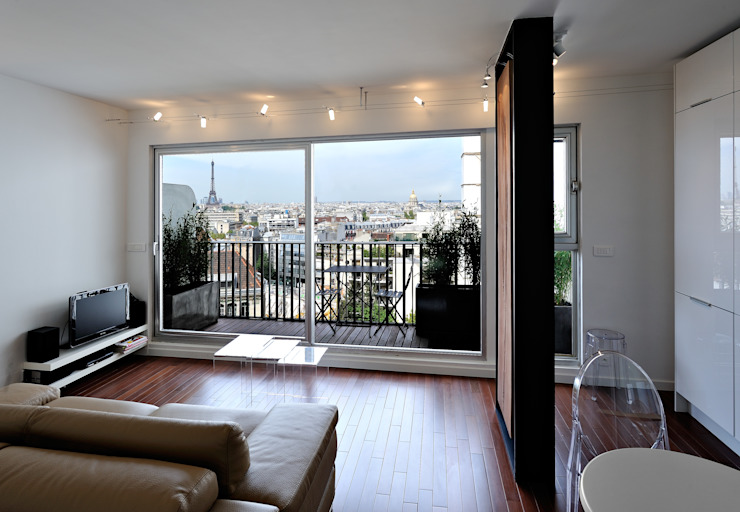 Modern living room by Fables de murs Modern Wood Wood effect