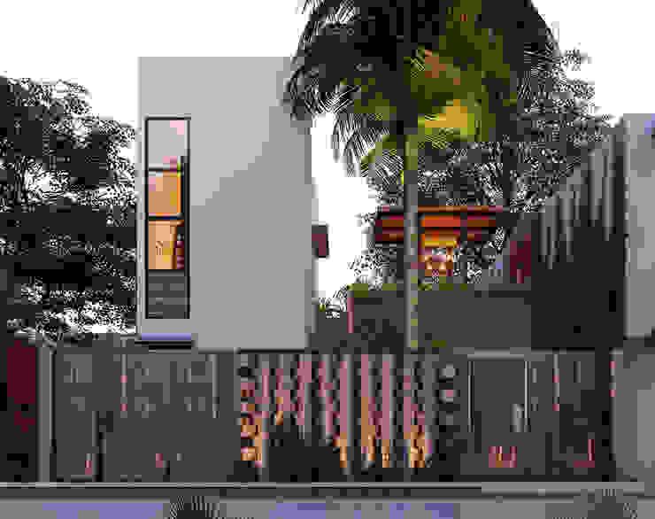 by Indigo Diseño y Arquitectura 휴양지 철근 콘크리트