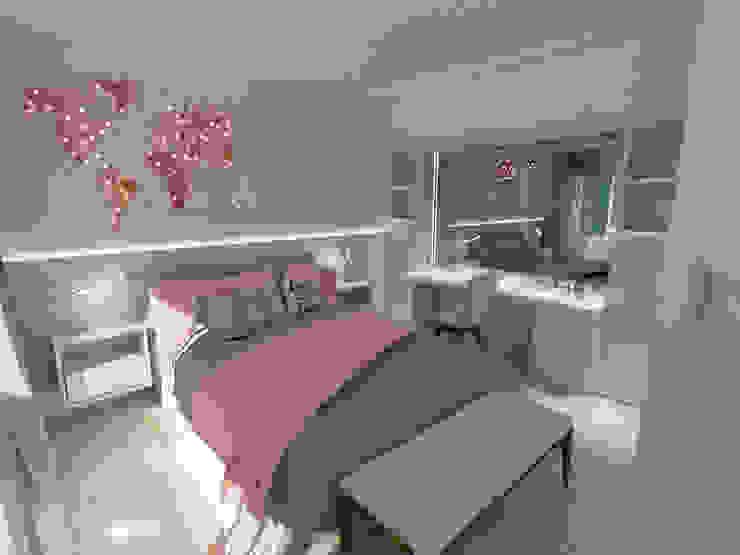 Habitación chica adolescente Aida tropeano& Asociados Dormitorios modernos: Ideas, imágenes y decoración Rosa