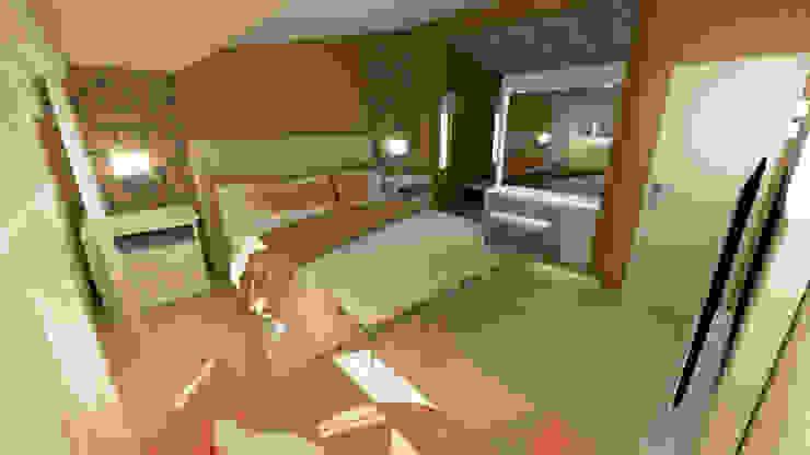 Dormitorio matrimonio Aida tropeano& Asociados Dormitorios modernos: Ideas, imágenes y decoración Metálico/Plateado