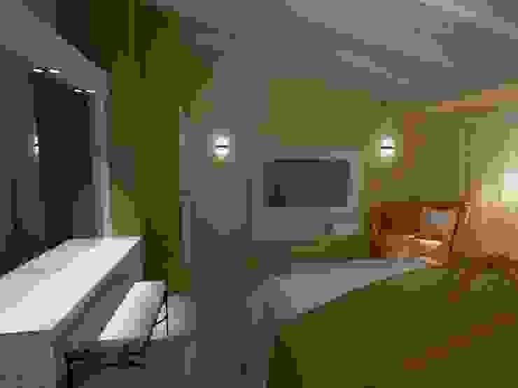 dormitorio matrimonio Aida tropeano& Asociados Dormitorios modernos: Ideas, imágenes y decoración Beige