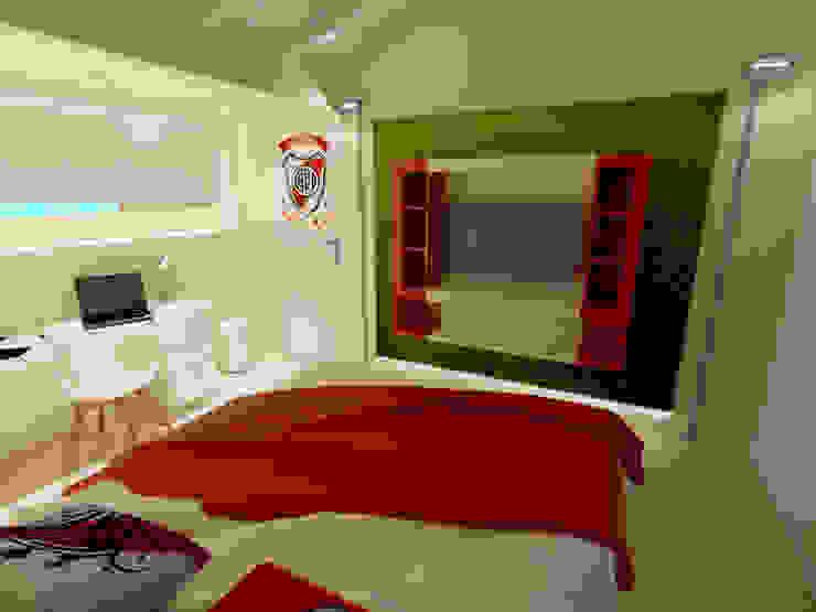 dormitorio joven Aida tropeano& Asociados Dormitorios infantiles modernos: