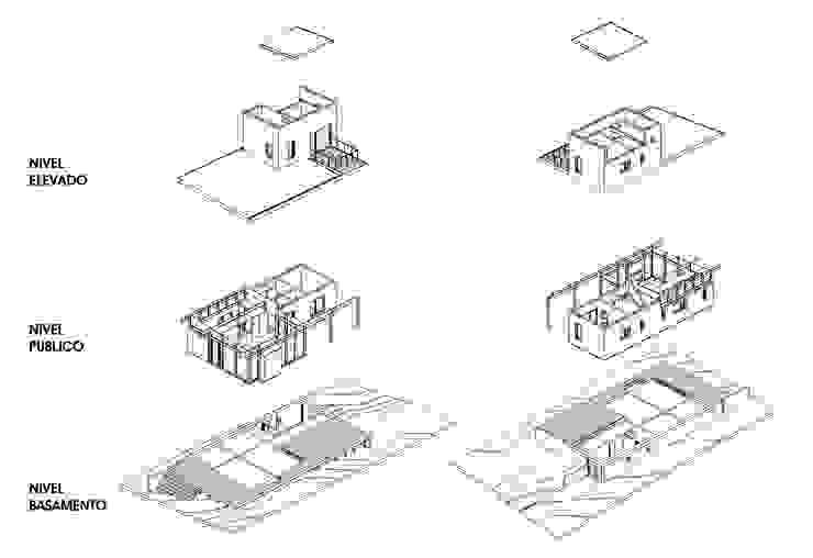 Casa Mar de las Pampas CRF Arquitectos Casas modernas: Ideas, imágenes y decoración