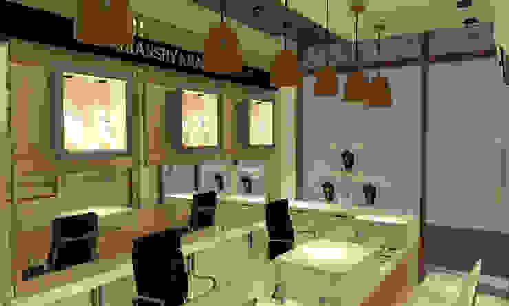 Espaços comerciais modernos por Inaraa Designs Moderno