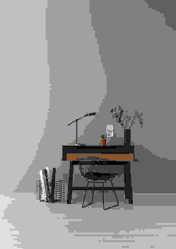SCHÖNER WOHNEN-FARBE Ruang Studi/Kantor Modern Grey