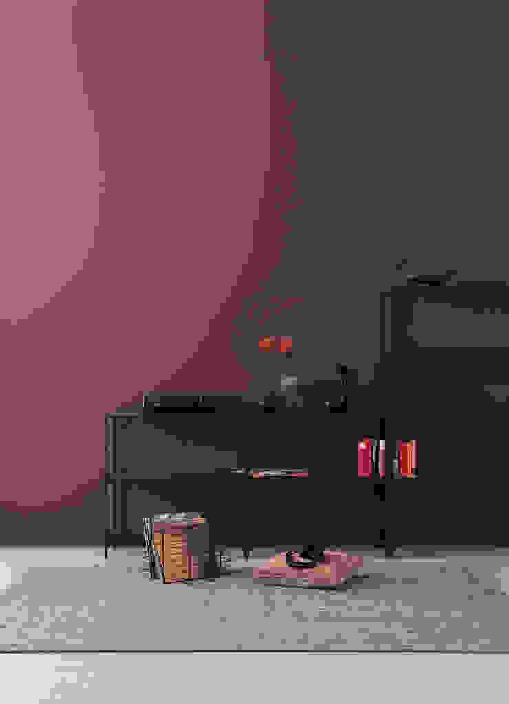 SCHÖNER WOHNEN-FARBE Ruang Keluarga Modern Purple/Violet