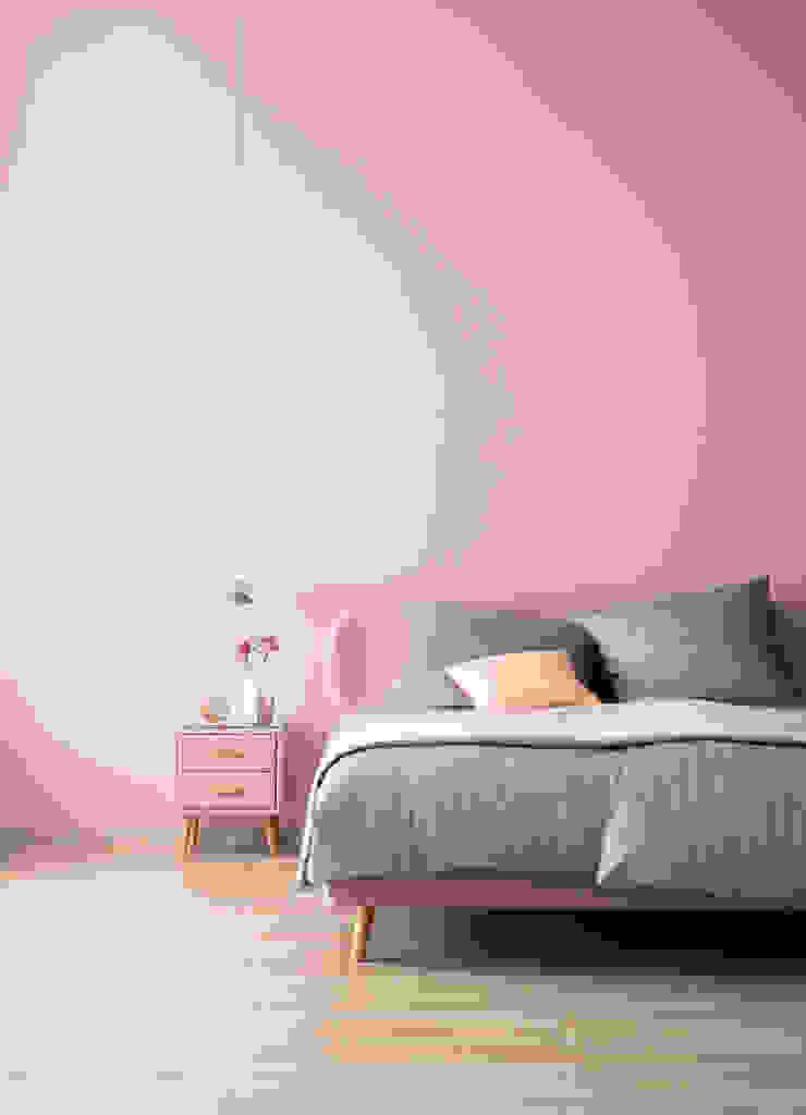 SCHÖNER WOHNEN-FARBE Kamar tidur kecil Pink