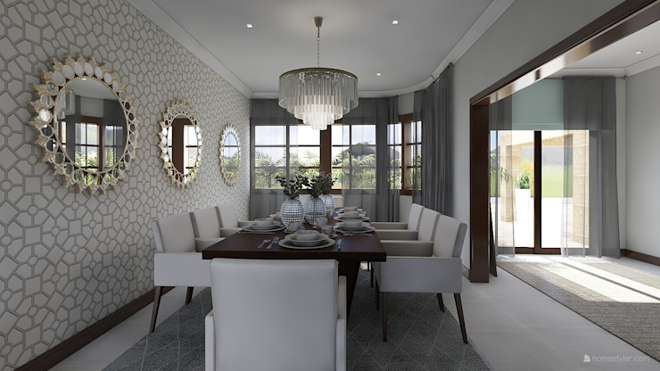 Monaco Dining Room: classic  by CKW Lifestyle Associates PTY Ltd, Classic Wood Wood effect