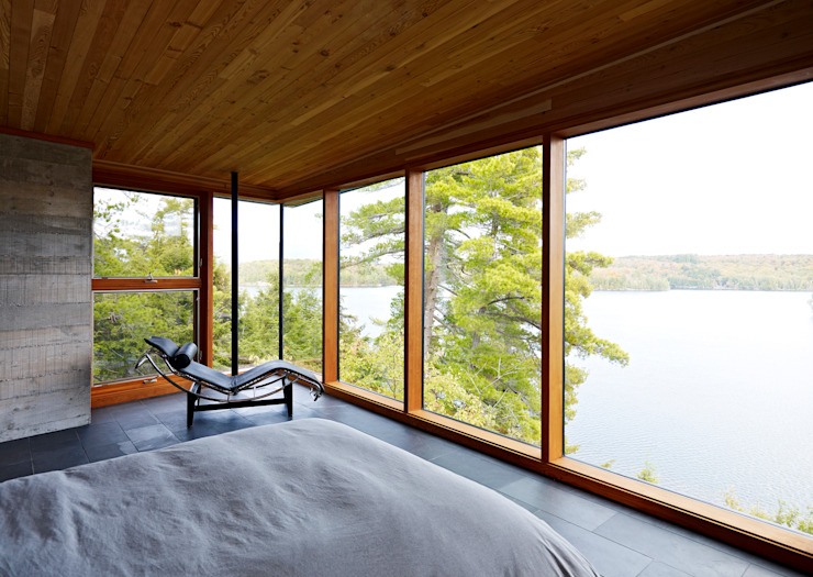 Contemporary Cottages in Ontario Modern style bedroom by Trevor McIvor Architect Inc Modern