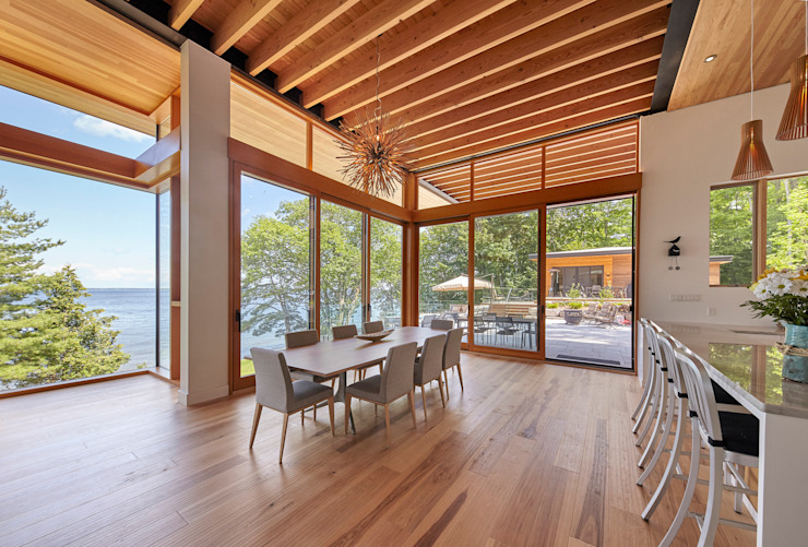 Contemporary Cottages in Ontario Modern dining room by Trevor McIvor Architect Inc Modern