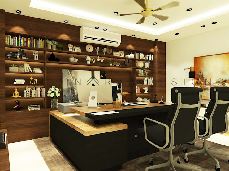 Main Cabin Modern offices & stores by Inaraa Designs Modern