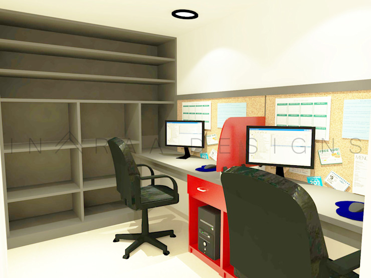 Staff Room Modern offices & stores by Inaraa Designs Modern