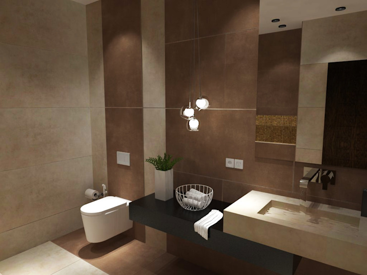 Bathroom-1:  Bathroom by Inaraa Designs,Modern