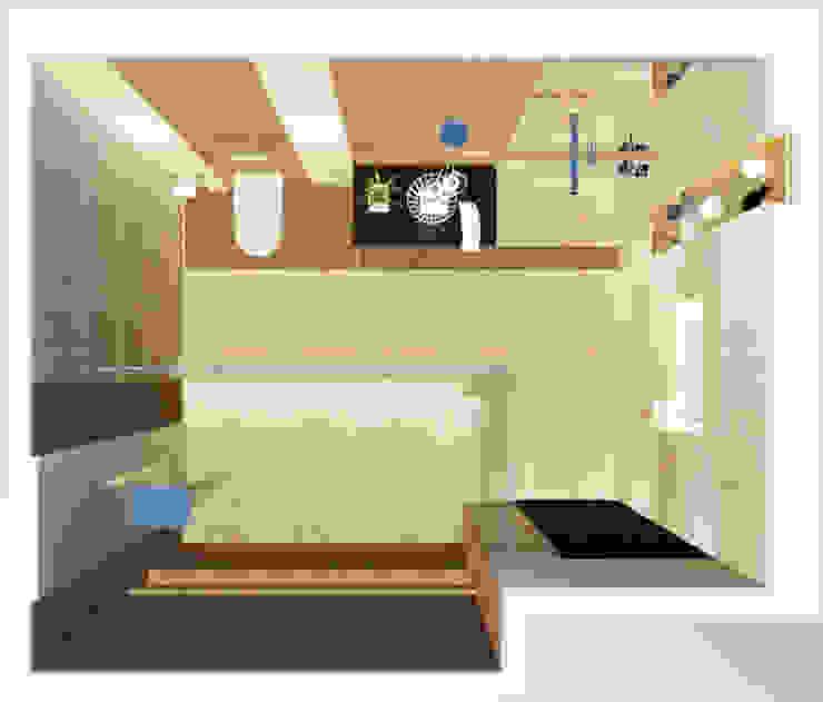 Bathroom-1 (Plan) Modern bathroom by Inaraa Designs Modern