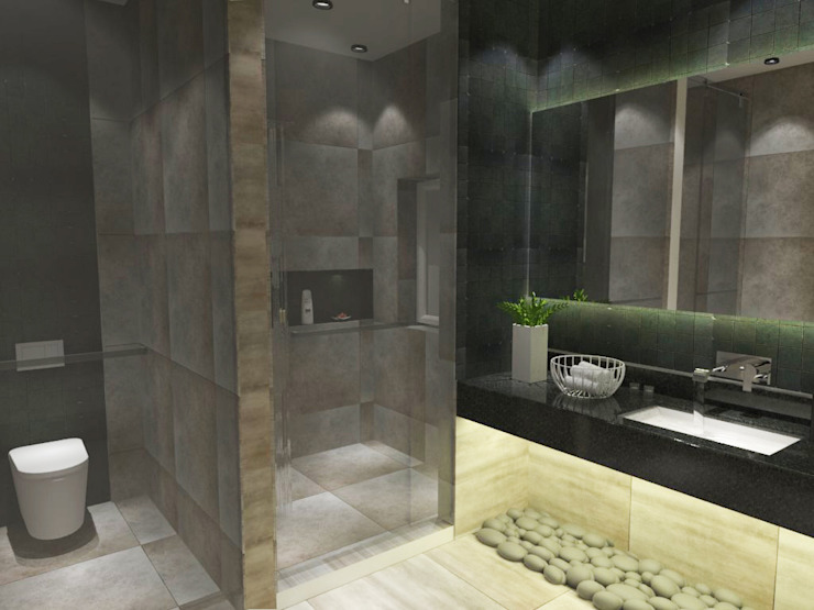 Bathroom-2:  Bathroom by Inaraa Designs,Modern