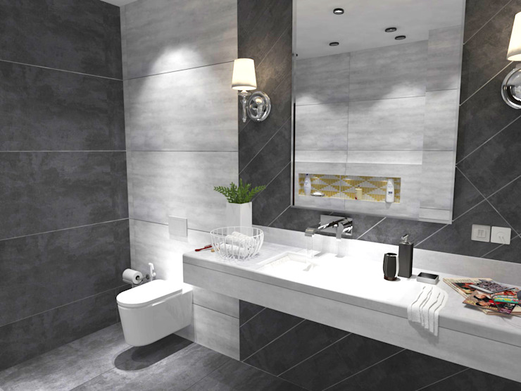 Bathroom-3:  Bathroom by Inaraa Designs,Modern