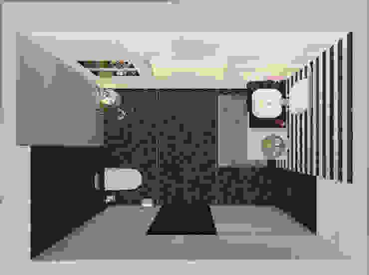 Powder Room (Plan) Modern bathroom by Inaraa Designs Modern